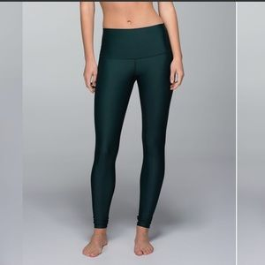 Lululemon Shine tight in fuel green